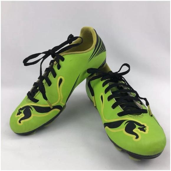 Puma Lime Green Socker Football Cleats